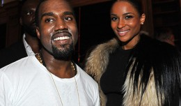 Photo credit: Getty Images (Kanye West and singer Ciara at his Paris Fashion Week debut )